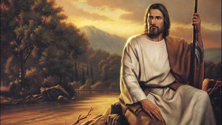 Jesus sitting down